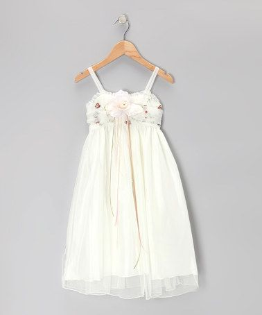 This Ivory & Brown Rose Babydoll Dress - Toddler & Girls by Kid's Dream is perfect! #zulilyfinds