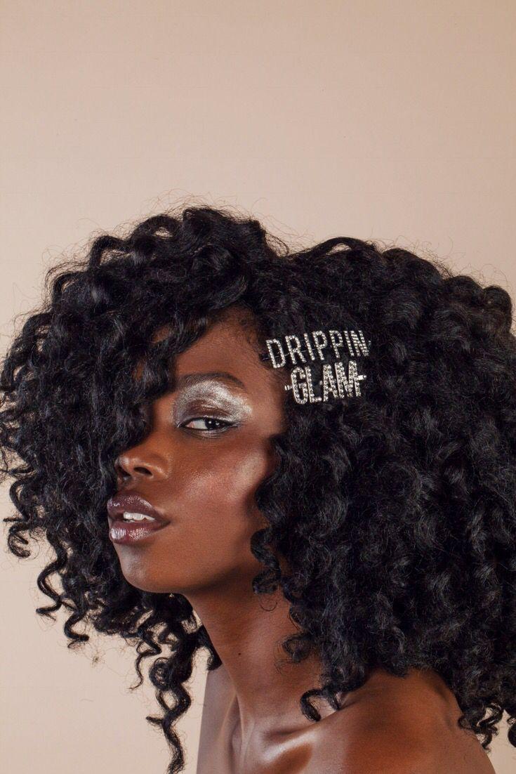 Glam Rhinestone Bobby Pin In 2019 Curly Hair Styles