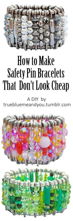 DIY Safety Pin Bracelets that Don't Look Cheap! Watch a short...