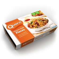 Quorn. The best veggie products out there. I make tacos with their crumbles and my husband can't even tell the difference between it and real hamburger. Very good!