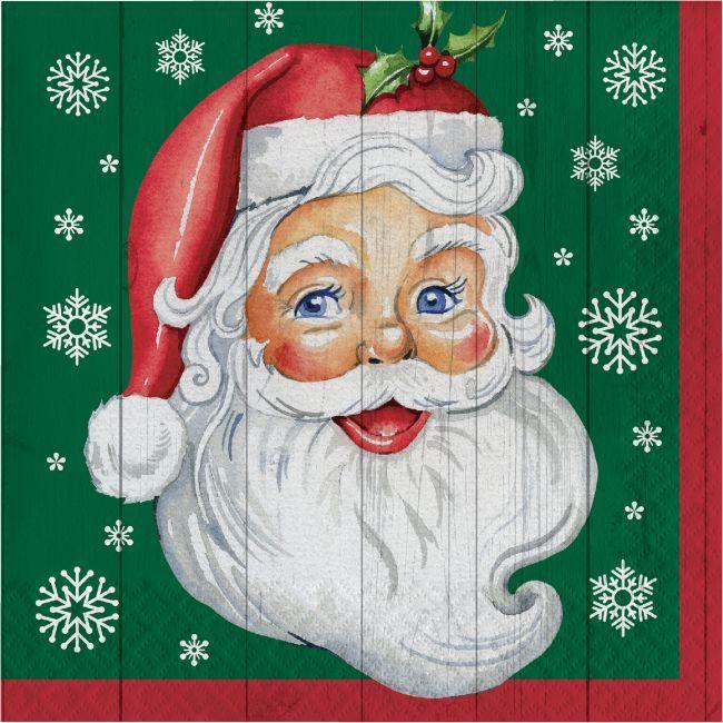 Nostalgic Santa Lunch Napkins Classroom Christmas Decorations Dyi Christmas Decorations Napkins Set
