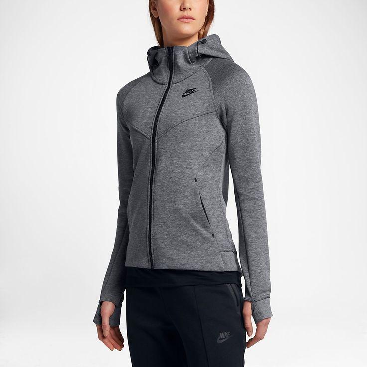 Veste nike tech fleece zippee femme grise