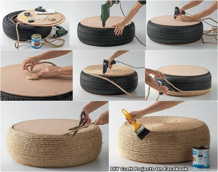 Tire chair tires pinterest chairs and tire chairs - Ideas para el hogar manualidades ...