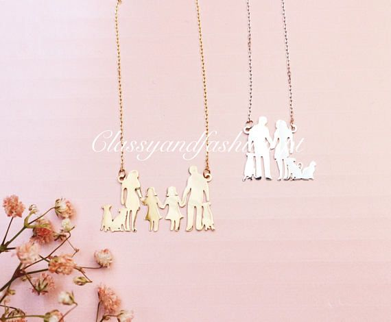 Family Necklace Gift for Mothers Sisters Grandmas or Best