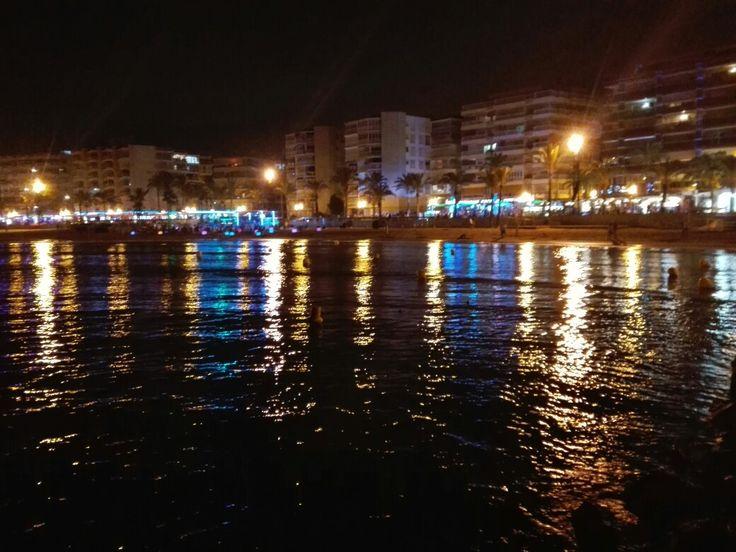 Night view. Salou, Spain No filter