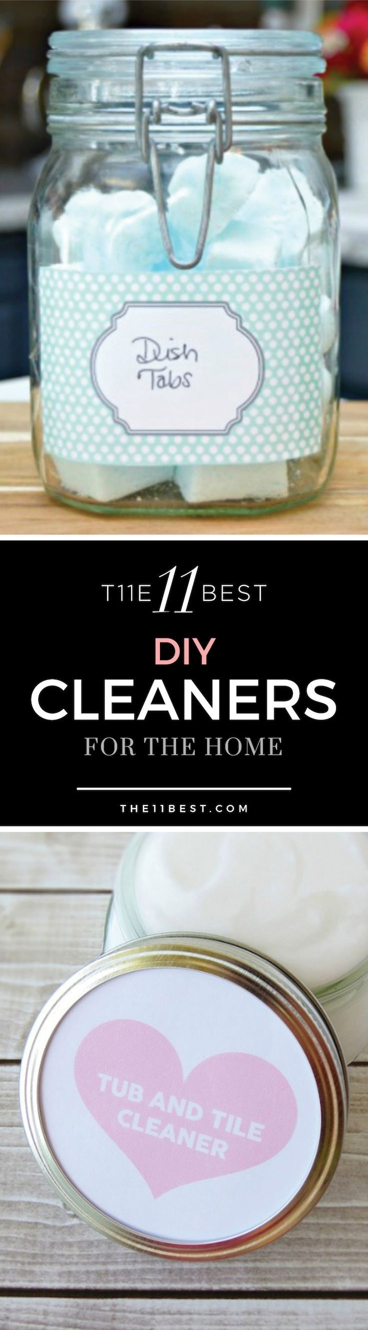 DIY cleaners for the home - window cleaner, dish soap, tile cleaner, etc. Make it all yourself for less!