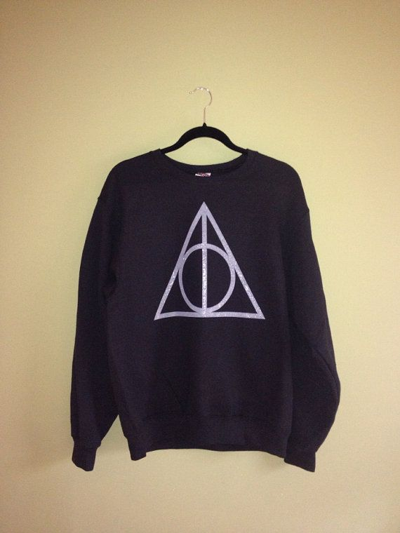 Hey, I found this really awesome Etsy listing at http://www.etsy.com/listing/160428703/deathly-hallows-symbol-sweatshirt-harry
