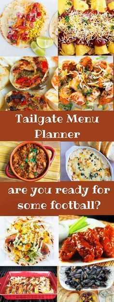 With the playoffs in full swing its time to get ready for some football with my Tailgate Menu Recipe Planner. Ten Great Recipes to keep you friends and family happy