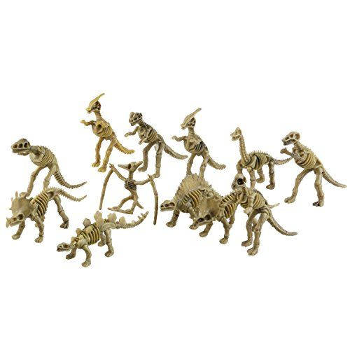 ROSENICE Dinosaurier-Skelett Dinosaurier-Fossilien sortiert Dinosaurier Knochen zahlen Kinder Spielzeug 12 Pack (hellolive)