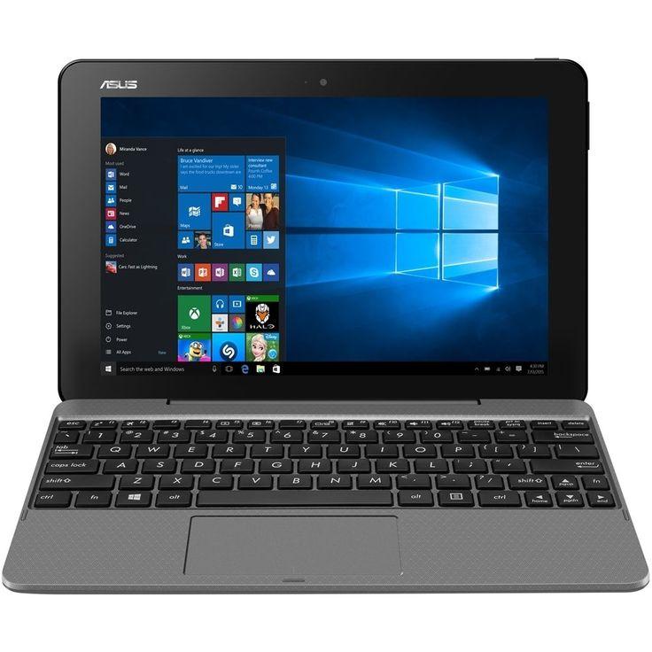 "Asus - Transformer Book T101HA - 10.1"" - Tablet - 64GB - With Keyboard - Glacier gray"