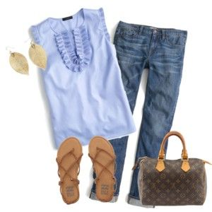 Cute blue top for summer by Mandys120