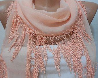 Navy Blue Lace sjaal omslagdoek bruids accessoires door ScarfClub