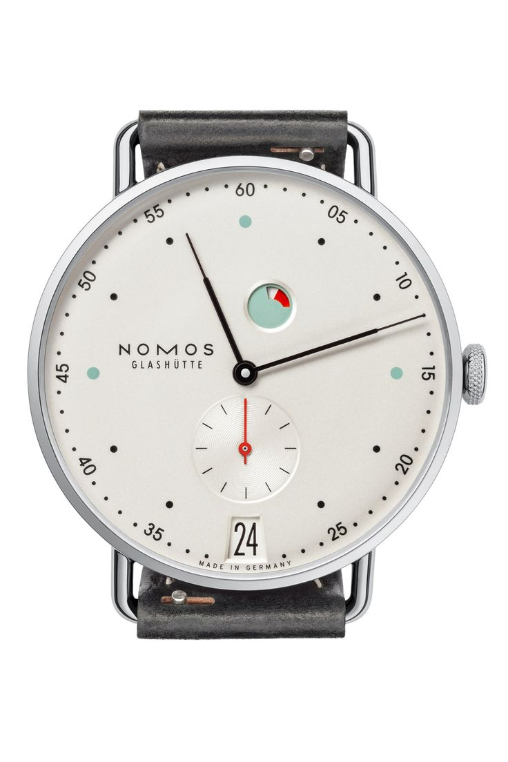 Nomos makes its minimalist timepieces in the former East German town of Glashütte.