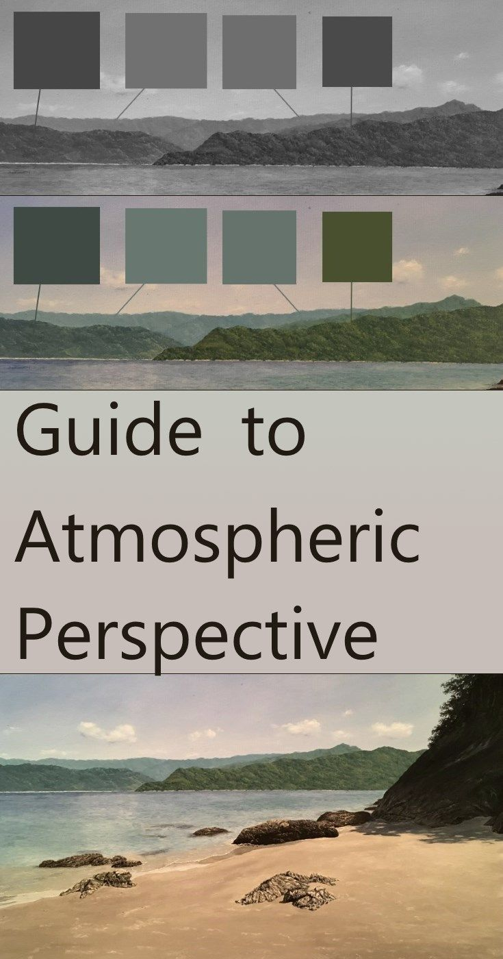 Linear Atmospheric Perspective Perspective Drawing Lessons Landscape Paintings Landscape