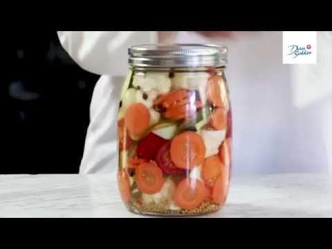Inlagda grönsaker - Dansukker - YouTube