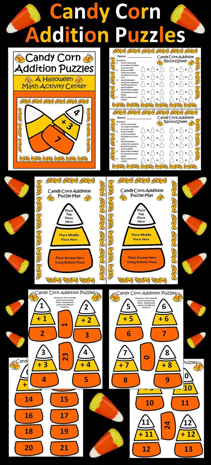 Uncategorized Candy Corn Math Worksheets 88 best candy corn images on pinterest halloween activities addition puzzles math activity packet