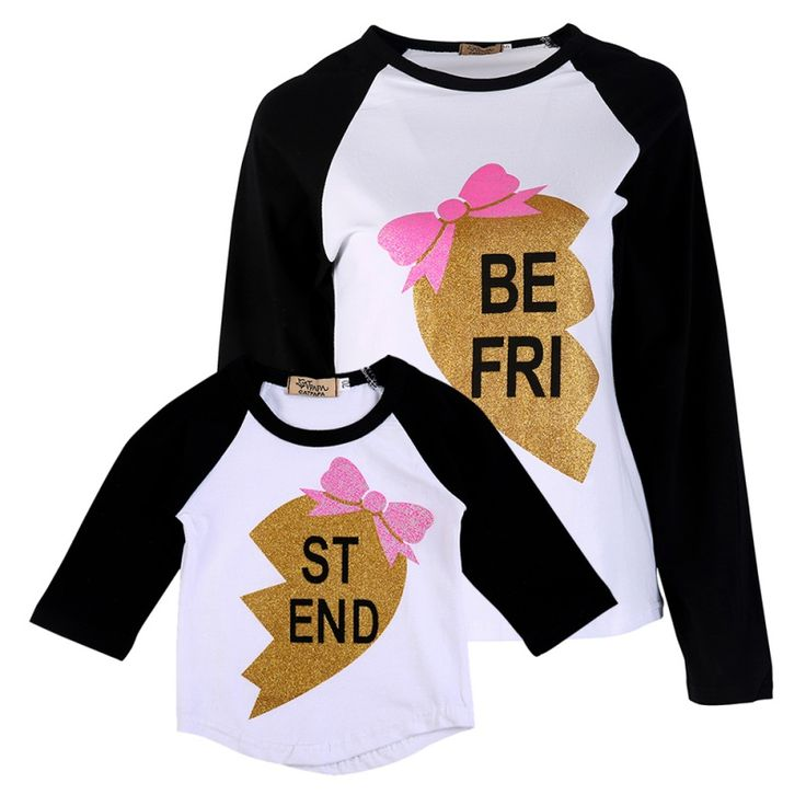 Fashion mom and kidsT-shirt look Letter family matching outfits mother daughter Children T-shirt clothing