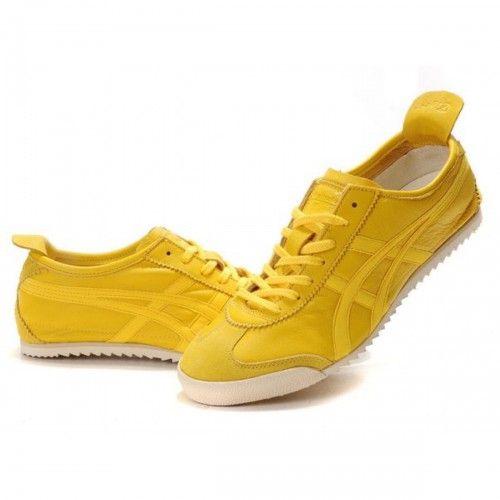 2012 Asics Onitsuka Tiger NIPPON MADE Lambskin Mens Shoes Yellow White