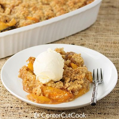 Fresh Peach Crisp // Kadin told me he wanted this and now I have a great recipe!