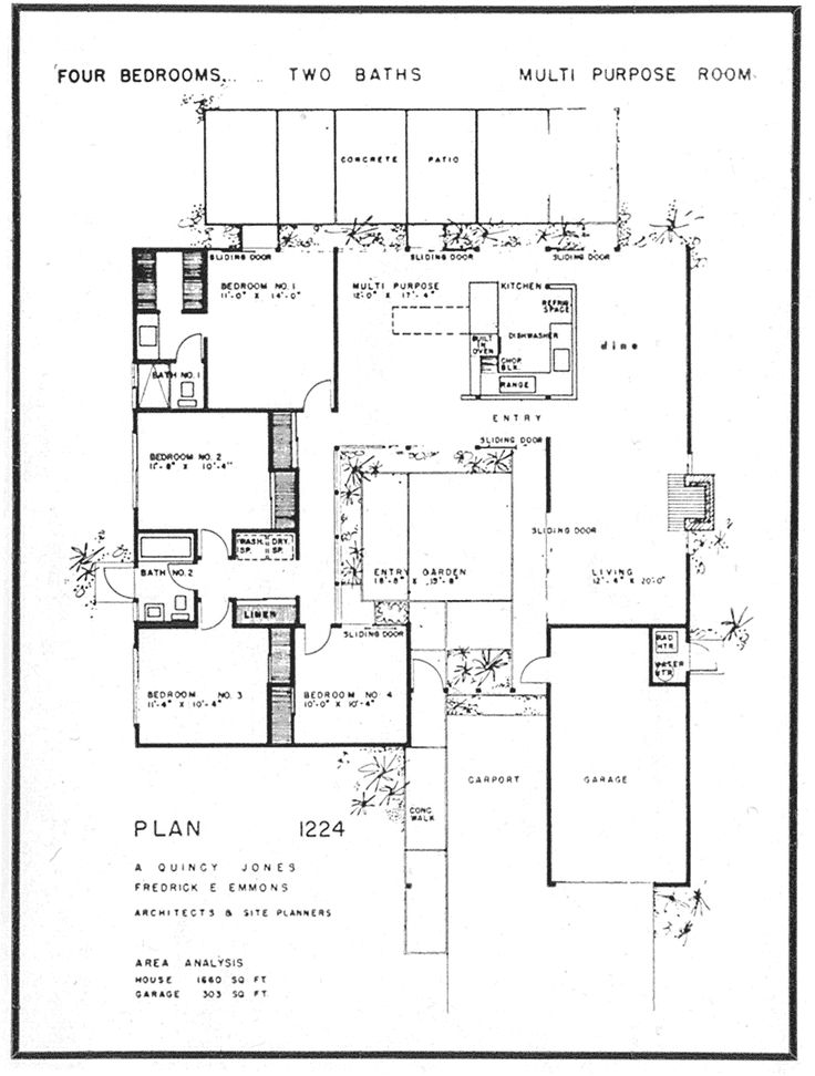 26 best Eichler floor plans images on Pinterest | Modern floor ...