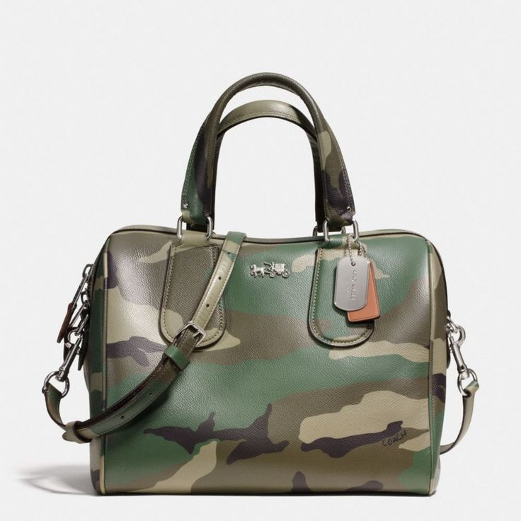 This bag is EVERYTHING!!!!! The Surrey Satchel In Camo Print Crossgrain Leather from Coach