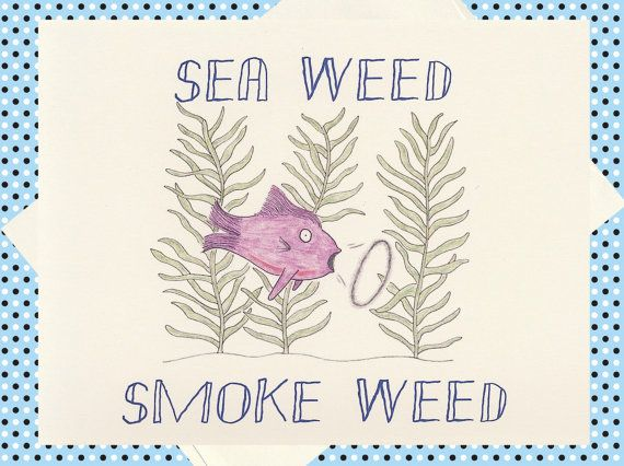Humor Card Weed Card Funny Card Funny Greeting by WhatACardCards