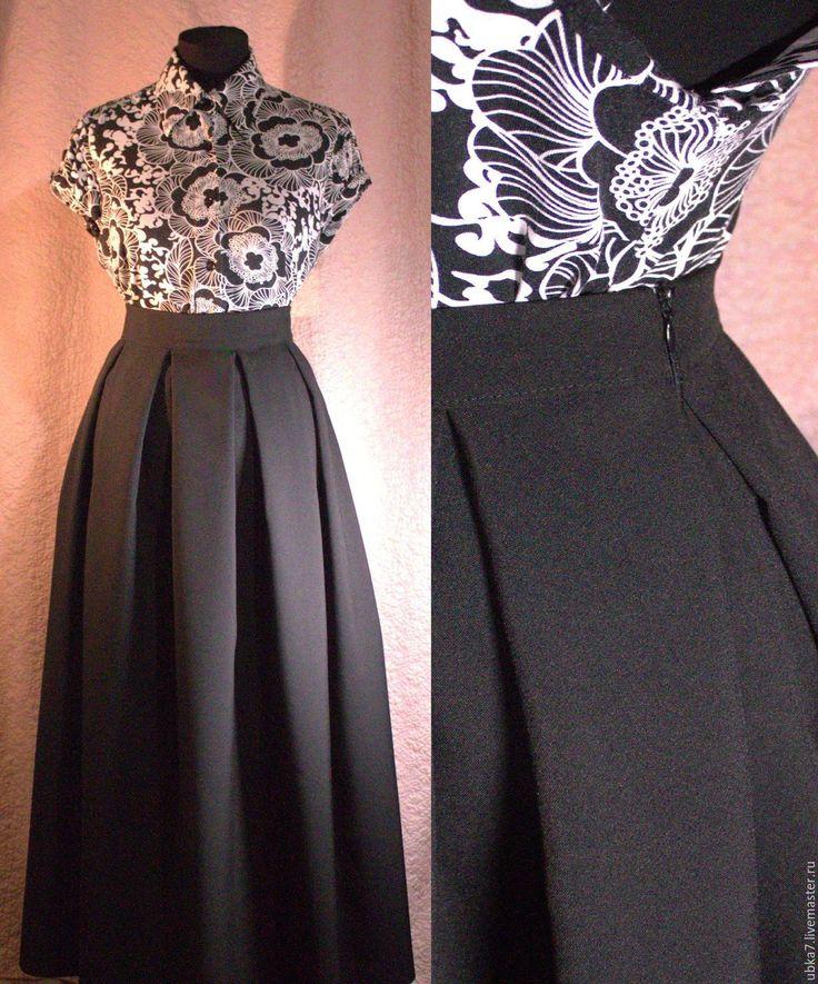 Купить Юбка макси в складку - разноцветный, юбка, юбка макси, юбка в складку, юбка повседневная
