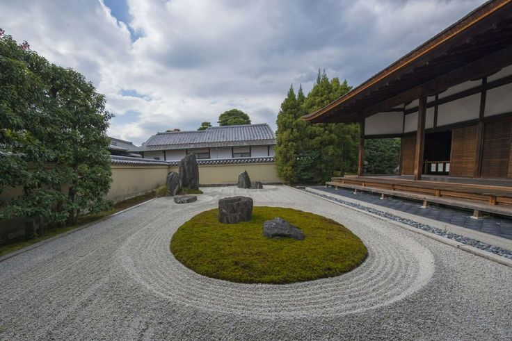 The largest one of Ryogen-in's five different landscape gardens at Daitoku-ji Temple in Kyoto, Japan, Copyright: coward_lion / 123RF Stock Photo.