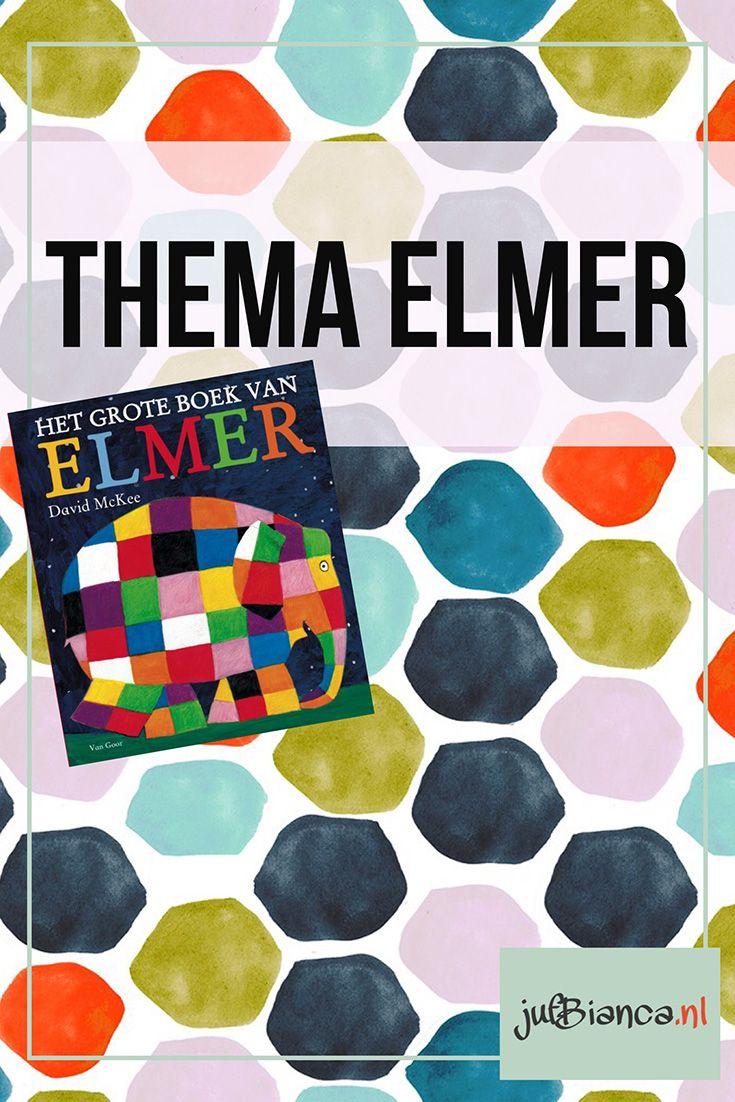 De prentenboeken van Elmer gaan over een vrolijke olifant die anders is dan de andere. In plaats van grijs heeft hij namelijk alle kleuren van de regenboog! Naast dat je kunt werken over olifanten en kleuren hebben de verschillende verhalen vaak een duidelijk thema zoals: vriendjes elkaar helpen anders zijn etc. #JufBianca