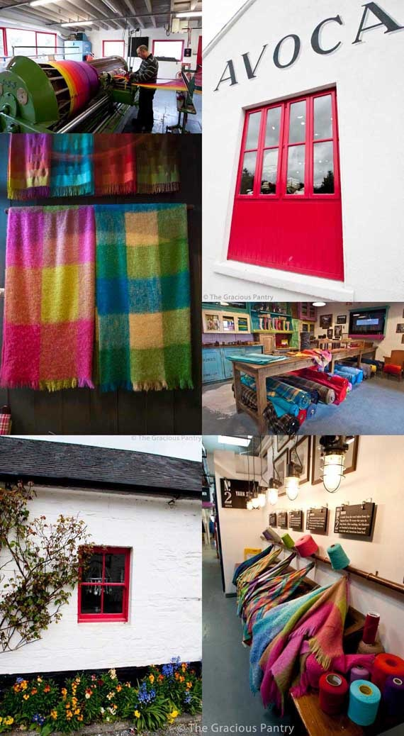 Avoca Mill, in Avoca village, Ireland.  Oldest weaving mill in Ireland, see the weaving sheds , eat and shop.