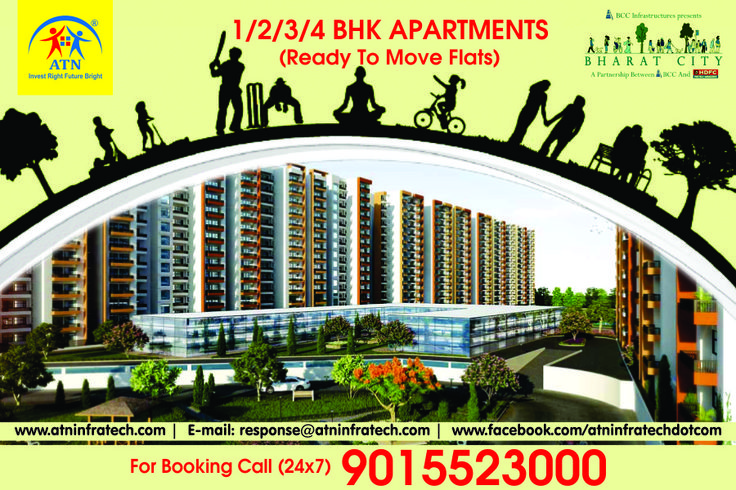 Bharat City - Bharat City Indraprastha Yojana is a largest residential township at Ghaziabad. For More details Please visit us at http://www.atninfratech.com/bharat-city-ghaziabad