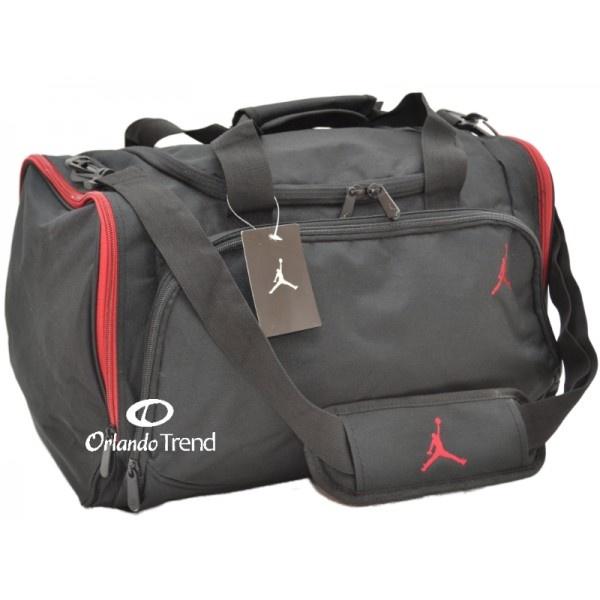Nike Air Jordan Black and Red Duffel Bag 8A1215-344 at $46.00 at OrlandoTrend.com #Nike #Jordan #Duffel #Bag #Gym #Gimnasio #Travel #Maletin #Mochila #Mochila
