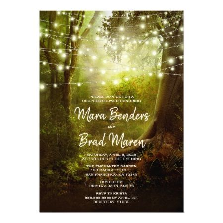 Enchanted String Lights Wedding Shower Invitations - tap, personalize, buy right now!