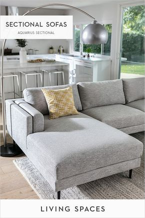 Modern sectional sofas + chaise sectionals | Nest | Home decor, Grey ...