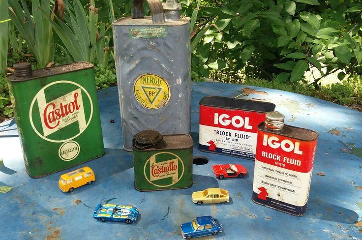 Bidons huile castrol  igol bp publicitaire voiture majorette matchbox