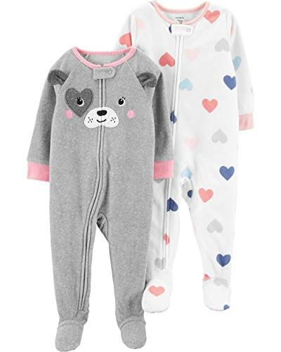 7e4420c8c Carter's Baby Girls' 2-Pack Fleece Footed Pajamas | Finds for Baby ...