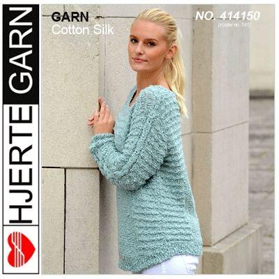 Sweater med ret-riller