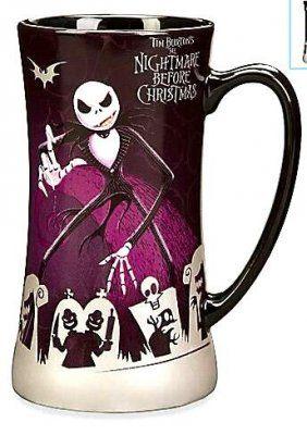 Jack Skellington, Lock, Shock, and Barrel purple coffee mug from Fantasies Come True