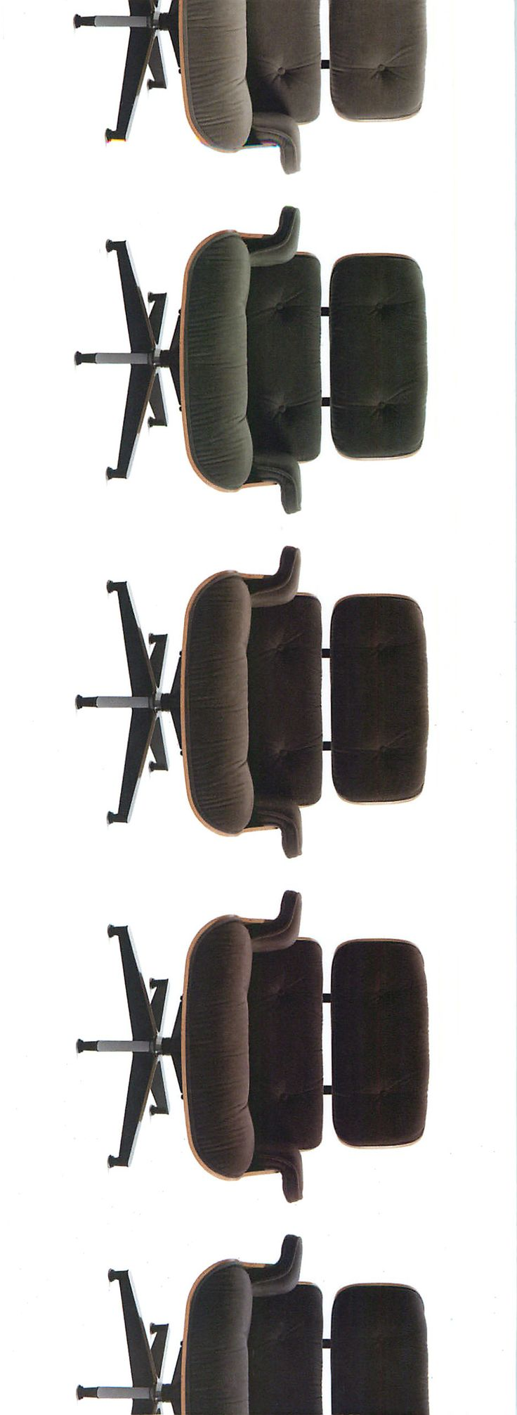 Every one's favorite, The #Eames Lounge Chair and Ottoman, is now available in #mohair by @maharam for @hermanmiller @dwrpins