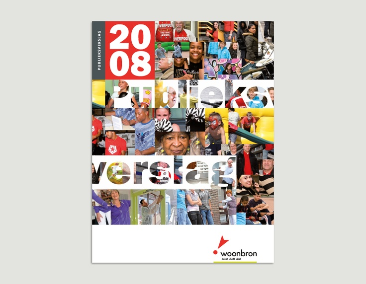 Jaarverslag 2008, Woonbron / jaarverslagenontwerp / 2009 ontwerp Cascade visuele communicatie Amsterdam