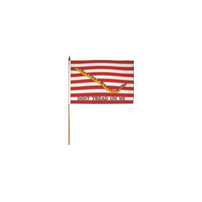 FlagsImporter First Navy Jack Traditional Flag and Flagpole Set