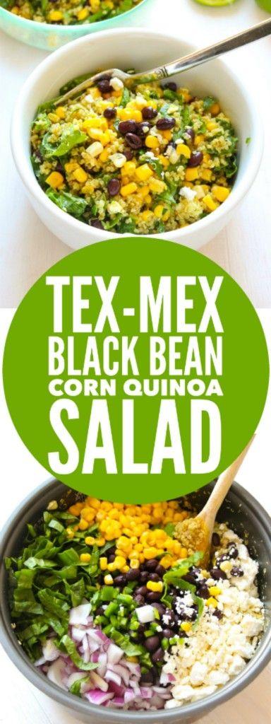 Tex-Mex Black Bean Corn Quinoa Salad