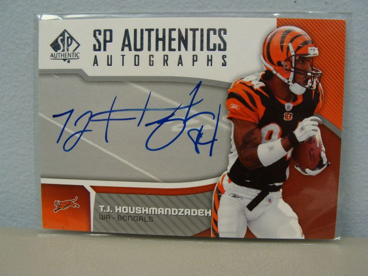 Cincinnati Bengals  TJ Houshmandzadeh 2006 Upper Deck Football Card Autographed Certified.  Bet you cant win it?
