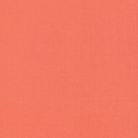#organic #fabric #solidcotton #cloud9fabric #natural #sew #quilting #aacottoncreations ORGANIC Salmon Solid Cotton Fabric Quilting by AACottonCreations