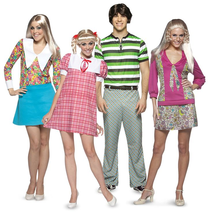 #Halloween http://www.planetgoldilocks.com/halloween/sales.html    The Brady Bunch Group Costumes  #Costumes  #GroupCostumes