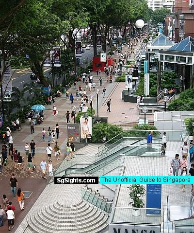 My favorite street in Asia.  Orchard Road, Singapore