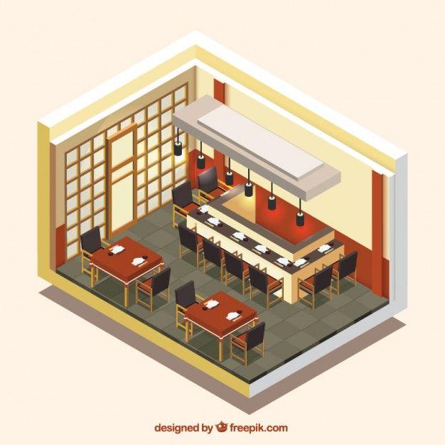 Image result for isometric restaurant