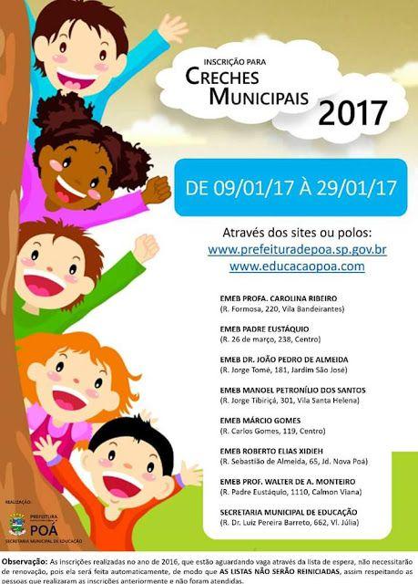 Libertat & Liberdade Educação: ATENÇÃO: inscrições de creche em Poá!