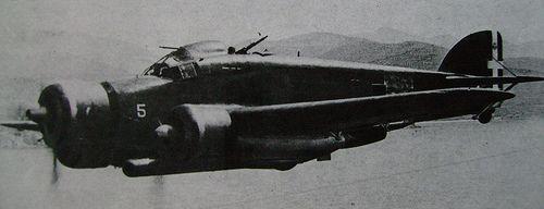 Savoia-Marchetti SM 79 Sparviero torpedo bomber.