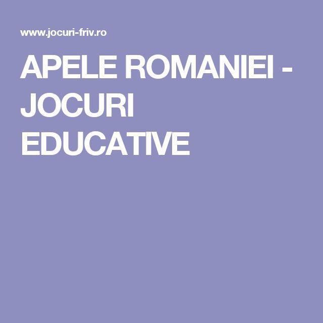 APELE ROMANIEI - JOCURI EDUCATIVE